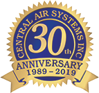 Central Air Systems is Celebrating their 30th Anniversary