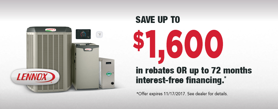 Save up to $1600 in rebates or up to 72 months interest free-financing