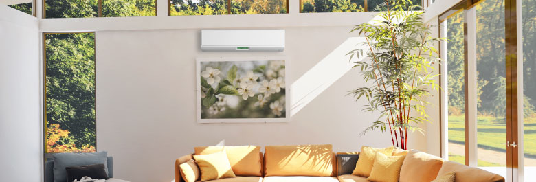 Keep your home comfortable all year round with a ductless mini split system!
